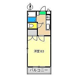 オーガセスタI[2階]の間取り