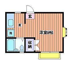 コーポ 中村[1階]の間取り