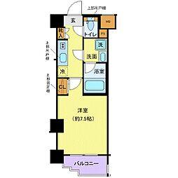 京王線 代田橋駅 徒歩6分の賃貸マンション 2階1Kの間取り