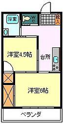 富士岡アパート2階[2階]の間取り