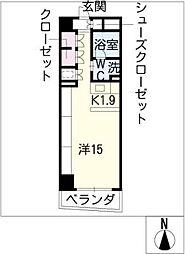 エスティメゾン葵[3階]の間取り