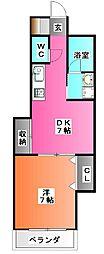シャレードASA[1階]の間取り