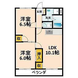大阪府枚方市高田1丁目の賃貸マンションの間取り
