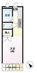 郡慶マンション6[5階]の間取り