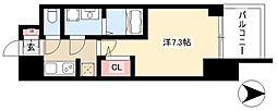 S-RESIDENCE本郷 11階1Kの間取り