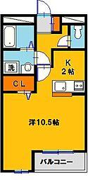 クライムドア[3階]の間取り