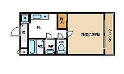 センペル・リンクウ[1階]の間取り