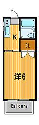 ベルアズーリ[2階]の間取り