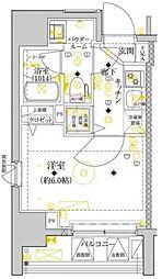 セジョリ横浜ウエスト[6階]の間取り