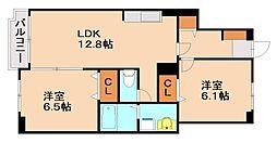 サンリットK[1階]の間取り