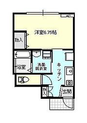 アバンティ京田[A107号室]の間取り
