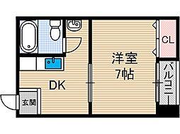 南茨木駅前ビル[3階]の間取り