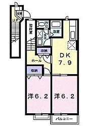 エトワールヒルズ[2階]の間取り