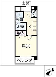 ルネスクレール[2階]の間取り