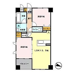 ソレイユ南与野 (住居部分)[201号室]の間取り