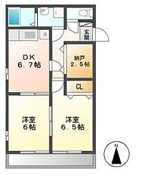 ビエントベルデA[1階]の間取り