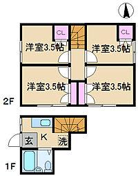 ソウワアパート[2階]の間取り