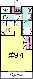 シエルエスコート[1階]の間取り