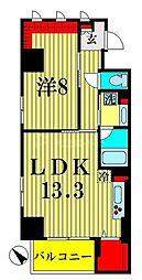 ザ アークトゥルス スピカ 7階1LDKの間取り