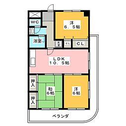 成和第5ビル[3階]の間取り