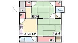 吉田荘[102号室]の間取り