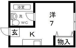 プロシード八戸ノ里[310号室号室]の間取り