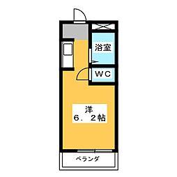 プチマンション江南[3階]の間取り