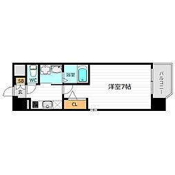 Osaka Metro長堀鶴見緑地線 京橋駅 徒歩7分の賃貸マンション 8階1Kの間取り