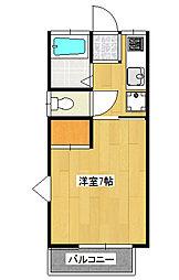 コーポ唐沢[2階]の間取り
