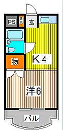 パールシティ浦和常盤台[2階]の間取り