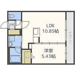 リアンN33[4階]の間取り