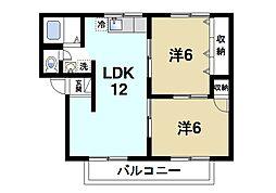 コーポ宝来II[2階]の間取り