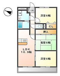 ドミールU[4階]の間取り