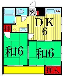 東京都足立区谷在家3丁目の賃貸マンションの間取り