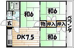 プレスト曽根[2階]の間取り