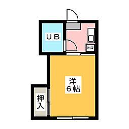ハイツみずほ[1階]の間取り