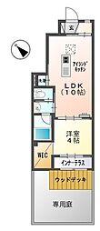 愛知県一宮市丹陽町九日市場字中田の賃貸アパートの間取り