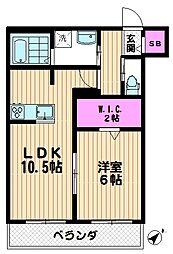 ローズガーデン戸田[302号室]の間取り