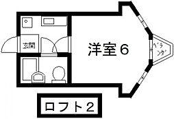Vie八戸ノ里[203号室号室]の間取り