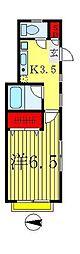 アビタシオン松戸[1階]の間取り