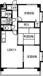 クリスタル藤江[502号室]の間取り