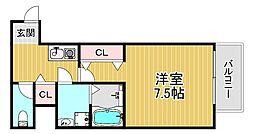 TOYOTOMISTAYPREMIUM梅田西II 5階1Kの間取り