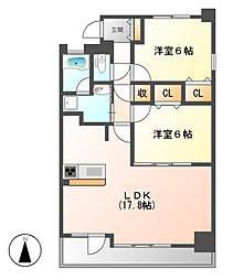 CHAYAGASAKA RISE[5階]の間取り