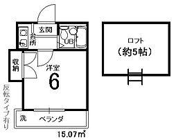 嵯峨野レジデンス[109号室]の間取り