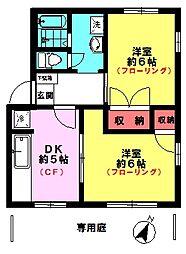パルクメゾン山本(1F角)[1階]の間取り