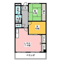 リンピアINOUE[3階]の間取り