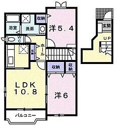 ベルフラワー[2階]の間取り