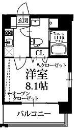 PondMum SUMIYOSHI(ポンドマム住吉) 7階1Kの間取り