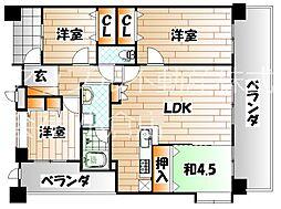 エイルマンション香春口ロゼア[8階]の間取り