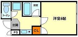 ハイムタケダT4[1階]の間取り